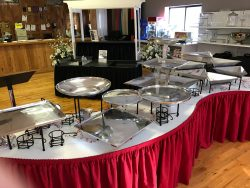Red skirt CATERING